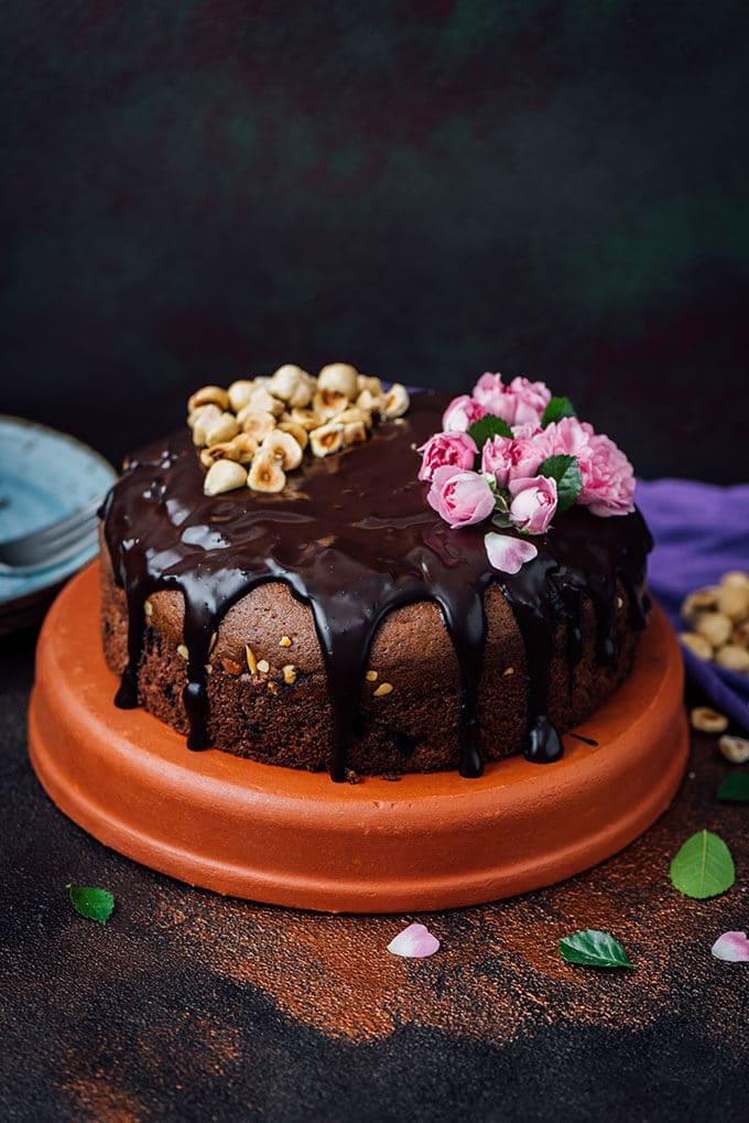 Hazelnut Triple Chocolate Cake