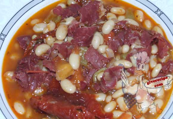 Haricot Beans with Pastirma