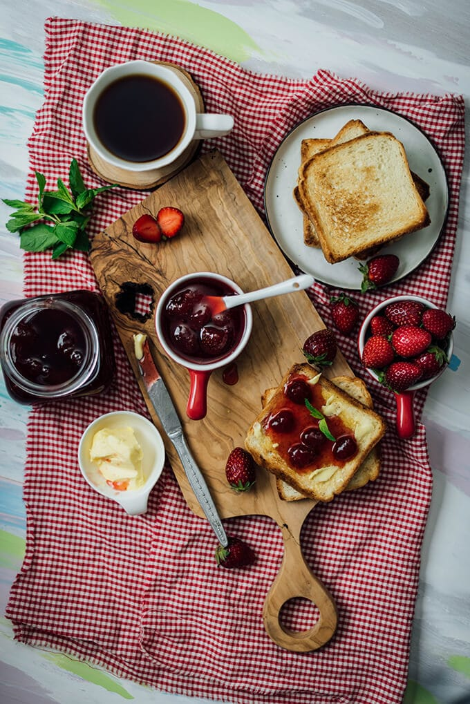 Homemade Strawberry Jam. Easy to make. Only 3 ingredients needed.