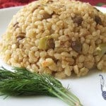Bulgur Pilaf with Green Lentil | giverecipe.com