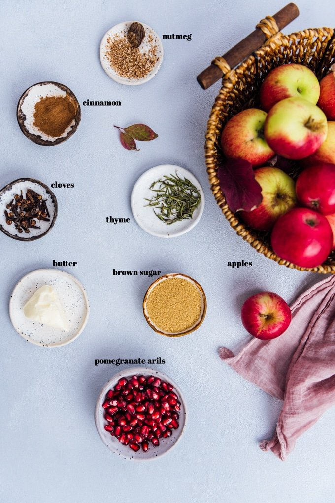 homemade apple compote ingredients