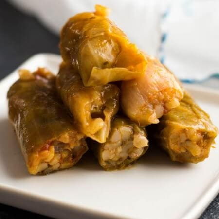 stuffed cabbage rolls | giverecipe.com| #cabbagerolls