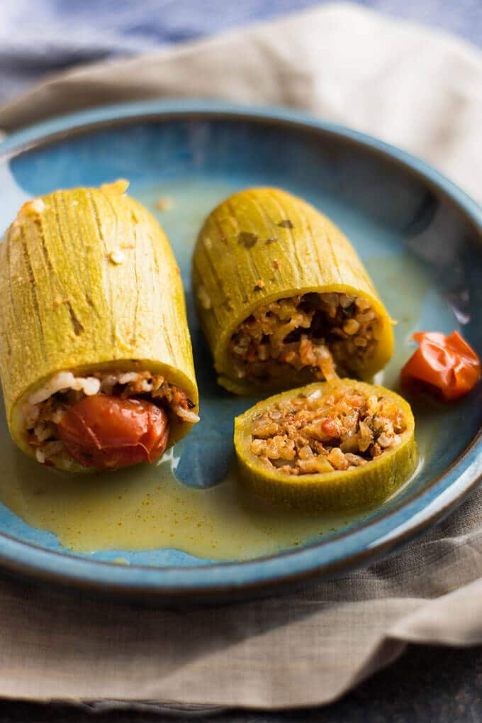 Stuffed Zucchini | giverecipe.com | #zucchini