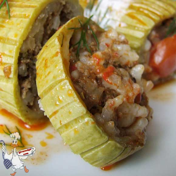 Stuffed Zucchini | giverecipe.com