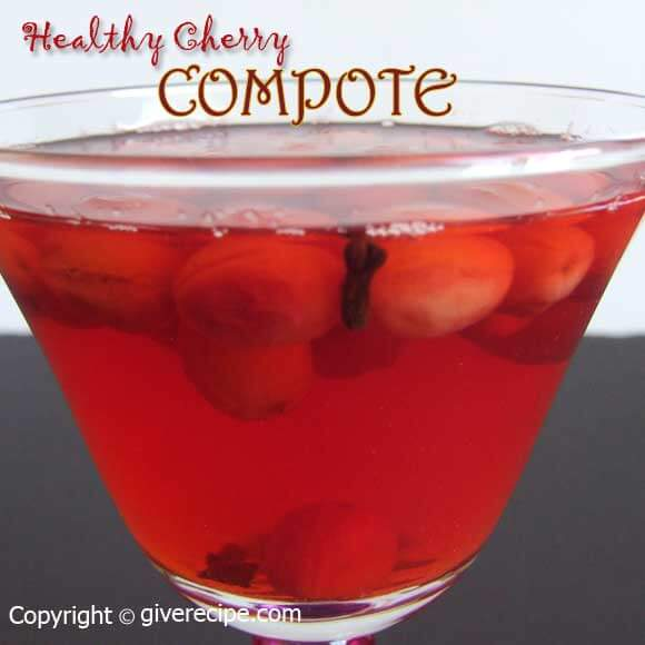 cherry compote | giverecipe.com