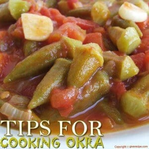 Okra With Tomatoes | giverecipe.com