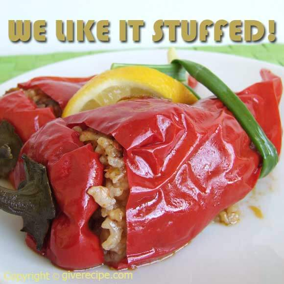 Stuffed Red Peppers | giverecipe.com