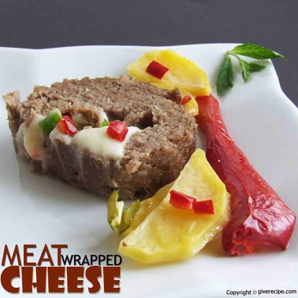 Meat Wrapped Cheese | giverecipe.com