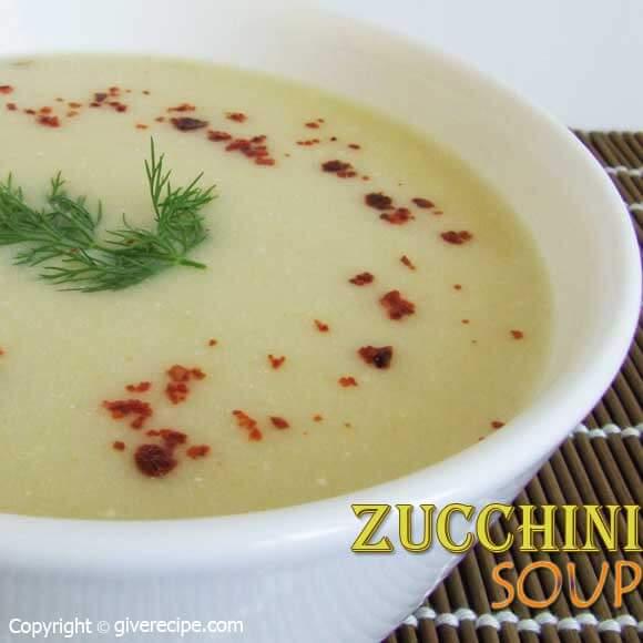 Zucchini Soup | giverecipe.com