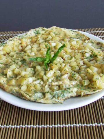 Potato Omelette | giverecipe.com