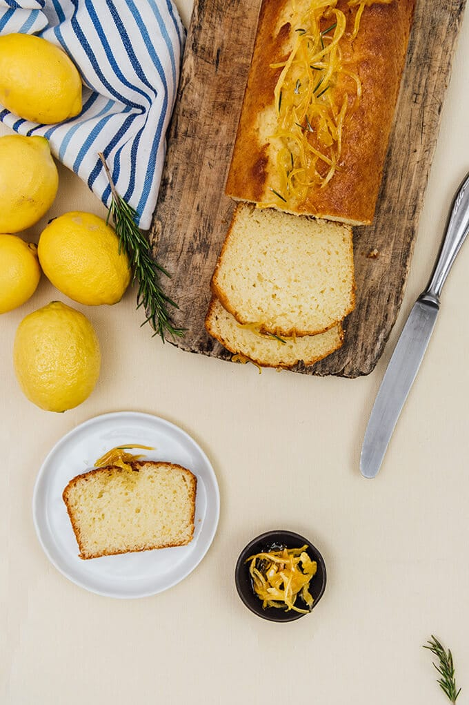 Kefir Lemon Bread bursting with lemon flavor. Kefir makes it light and wonderfully moist. A quick lemon jam for the topping is a bonus.