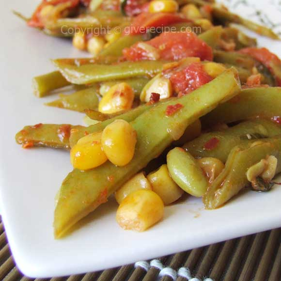 Green Beans With Corn | giverecipe.com