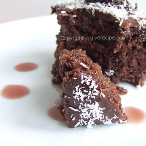 browni5 Brownie With Sour Cherry Jam