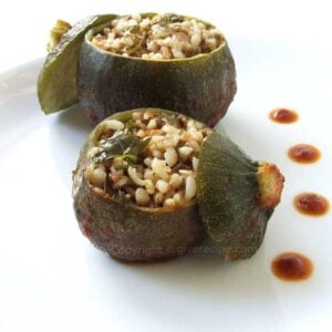Stuffed Eight Ball Zucchini