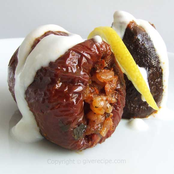 Stuffed Dried Eggplants And Peppers | giverecipe.com