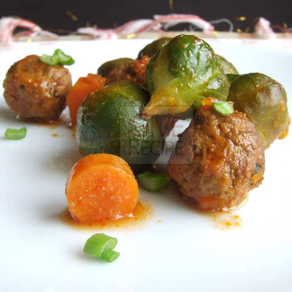 Brussels Sprouts With Meatballs | giverecipe.com