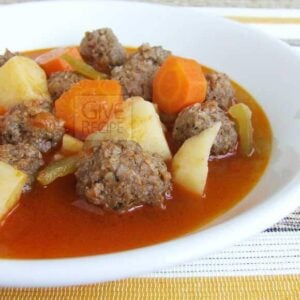 Meatballs Stew With Vegetables | giverecipe.com