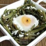 Spinach Stems With Egg