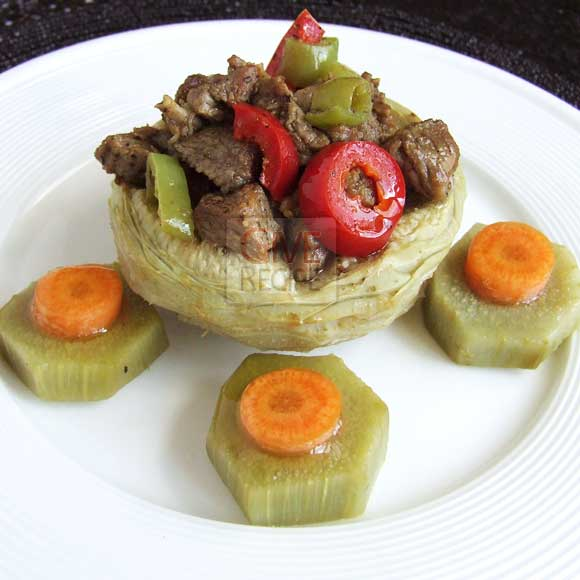 Artichoke Stuffed With Lamb | giverecipe.com