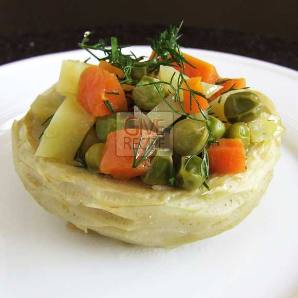 Artichoke With Veggies | giverecipe.com