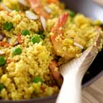 shrimp and couscous paella