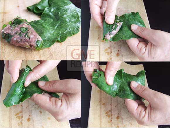 Stuffed Dock Leaves | giverecipe.com