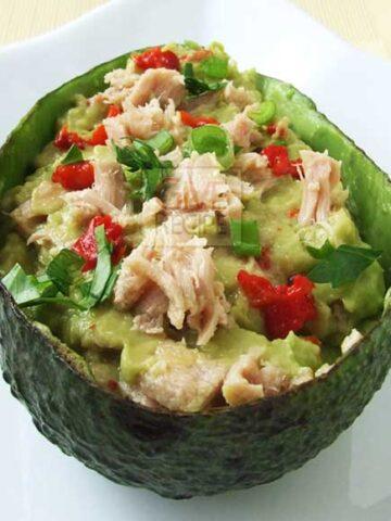 Avocado With Tuna | giverecipe.com