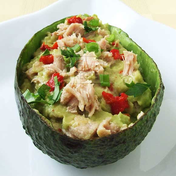 Avocado with Tuna gives you everything your body needs in a small pack. A super nutritious and tasty salad served in avocado bowls is a big hit in my house.