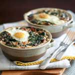 spinach and buchwheat egg bake