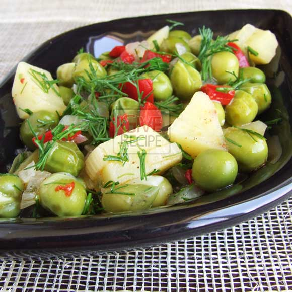 Pea With Potato | giverecipe.com