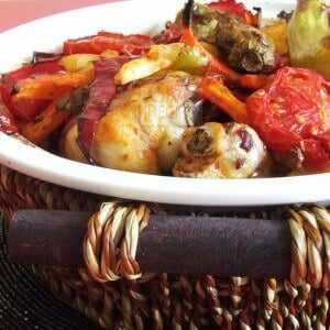 Roasted Chicken With Veggies | giverecipe.com