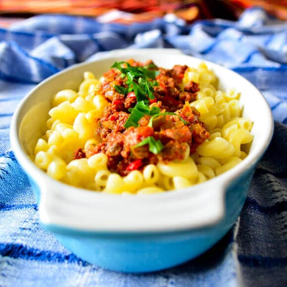 Pasta With Mince Sauce