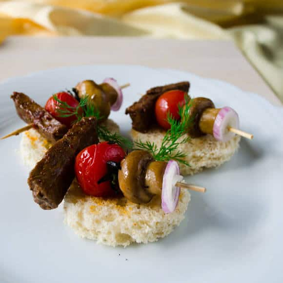 Beef Tenderloin Canapes | giverecipe.com