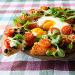 Homemade Pizza With Cherry Tomatoes