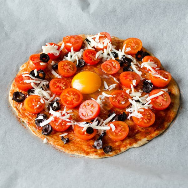 Homemade #Pizza With Cherry Tomatoes | www.giverecipe.com