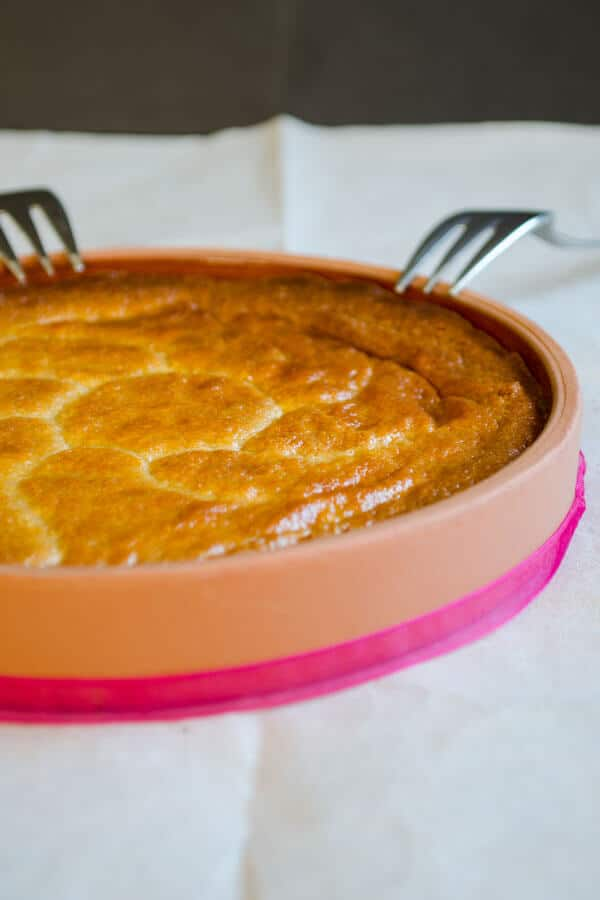 Sesame Halva in Oven | www.giverecipe.com