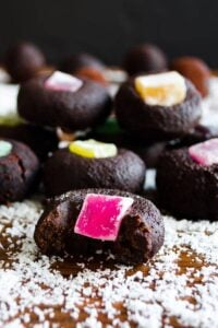 Thumbprint Chocolate Truffles With Turkish Delight | giverecipe.com
