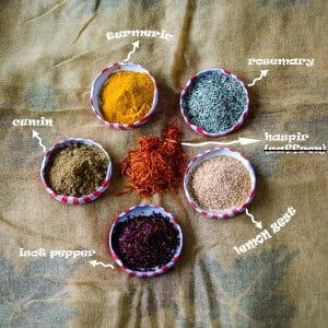 6 Different Spices from Turkey