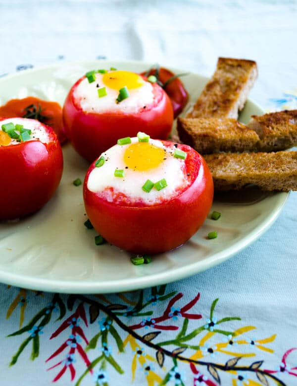 #Egg Stuffed Tomatoes