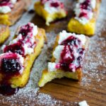 French #Toast with #Curd and Blackberry #Jam