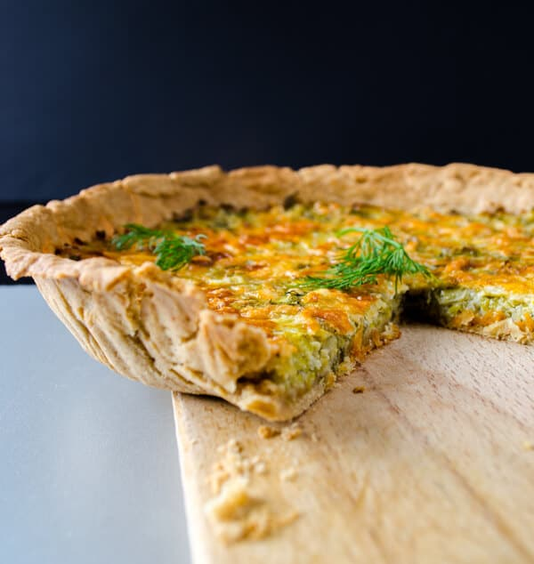 Simple #Quiche with #Leek | www.giverecipe.com