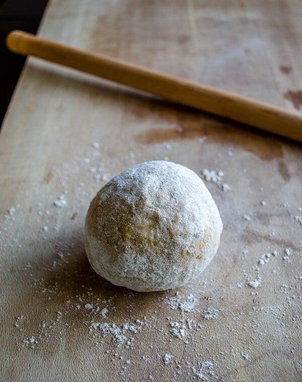 making dough for turkish manti