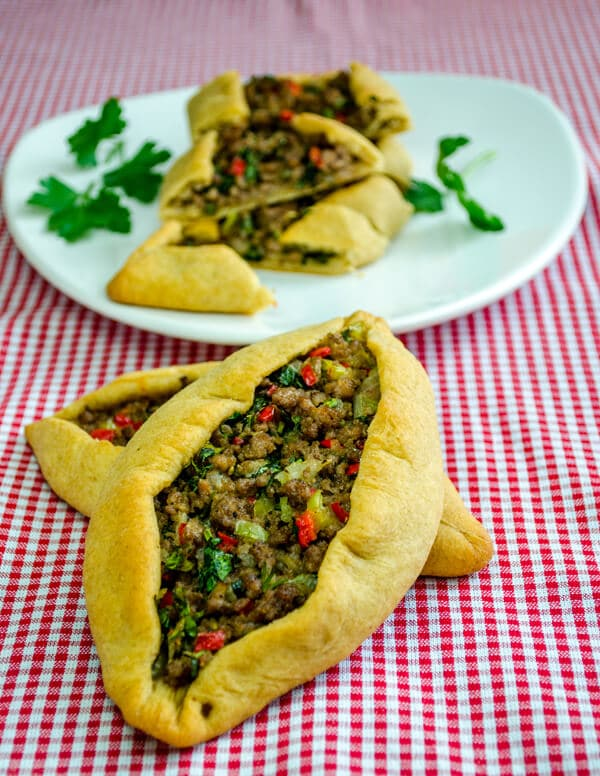 Turkish Pide with Ground Beef2 Turkish Pide with Ground Beef