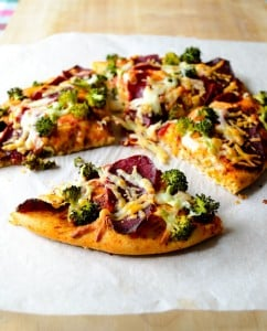 Whole Wheat Pizza with Broccoli