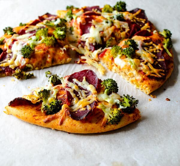 whole wheat pizza with broccoli5