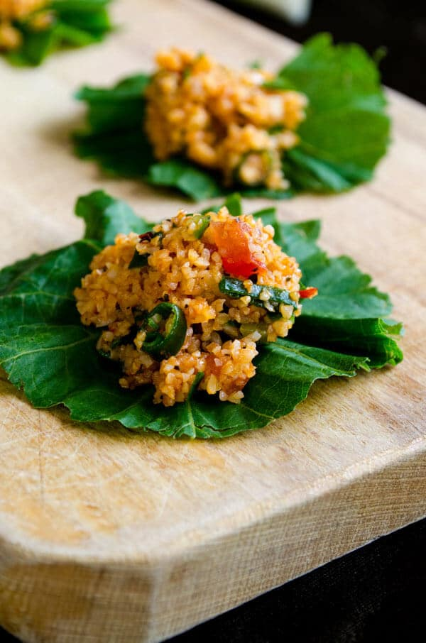 Turkish Bulgur Salad is refreshing, spicy, tangy and loaded with herbs. It's the perfect salad to make in spring. You can't stop once you start eating this salad.