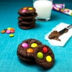 Chewy Chocolate M&M Cookies