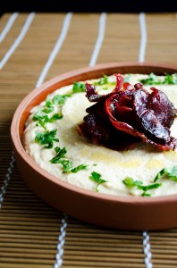 #Hummus with #Pastirma or Bacon
