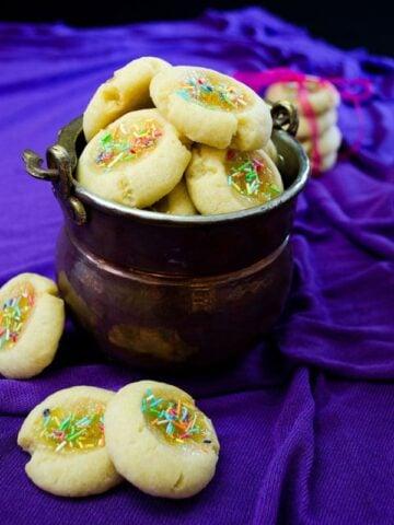 Lemon #Jam #Thumbprint #Cookies