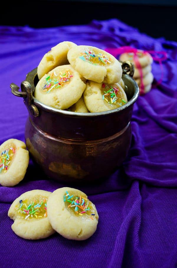Lemon Jam Thumbprint Cookies